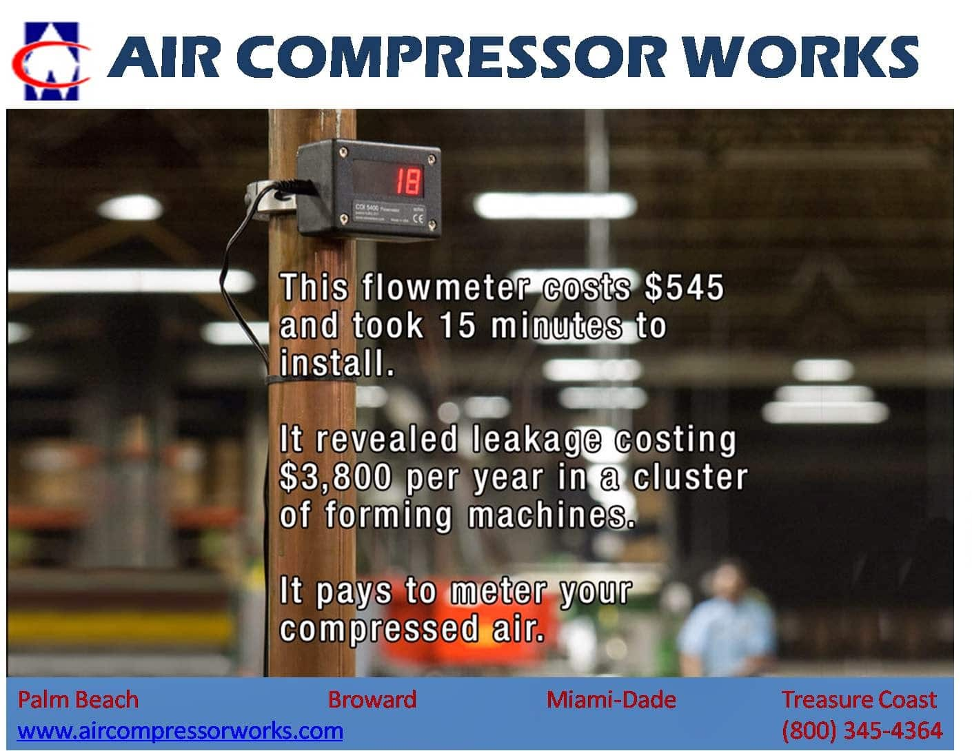 It Pays To Meter Your Compressed Air Air Compressor Works
