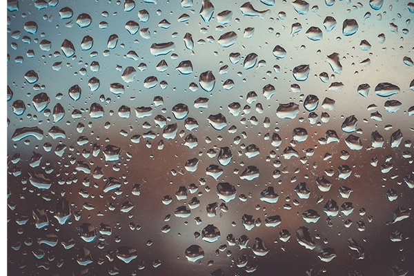 humidity on glass