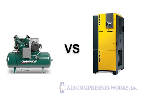 Piston Compressor vs Rotary Screw Compressor